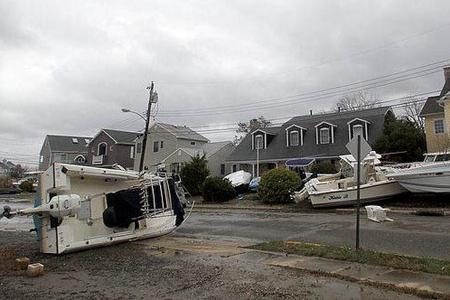 Damage caused by Hurricane Sandy. Image courtesy of Borough of Manasquan