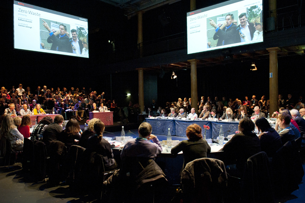 IDFA Forum 2012 - central pitches, day one. Photo: Nadine Maas