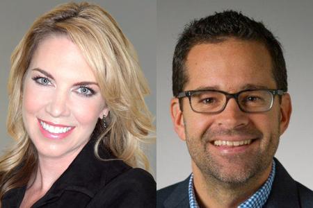 Sarah Whalen (left) and John Gray