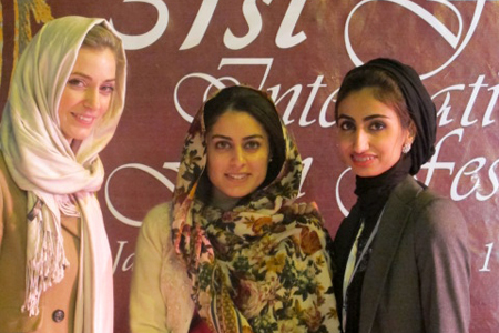 Harriet Armston-Clarke (left), Aya Al Blouchi (center) and Shorooq Shaheen (right)