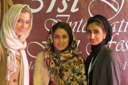 Harriet Armston-Clarke (left), Aya Al Blouchi (center) and Shorooq Shaheen (right)
