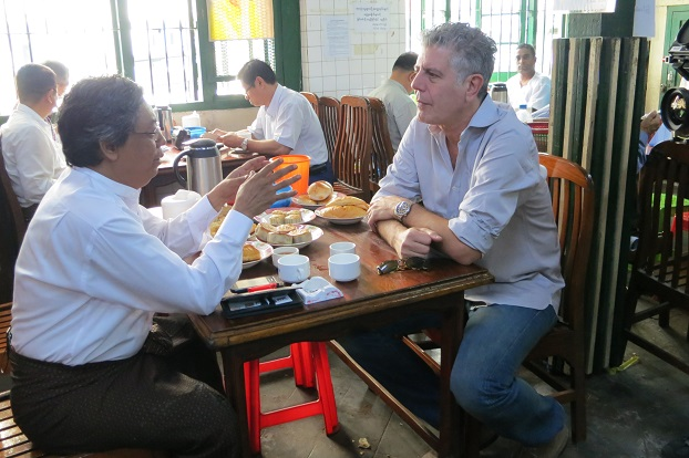 "Anthony Bourdain (right) in ""Parts Unknown"""