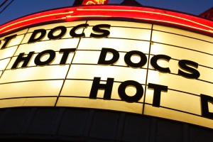 Hot Docs marquee. Photo: Paul Galipeau