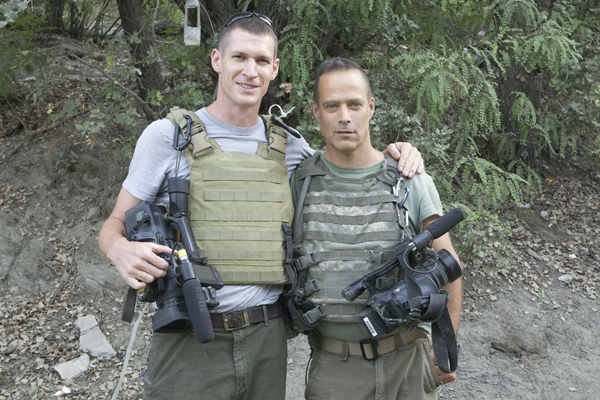 Tim Hetherington (left) and Sebastian Junger