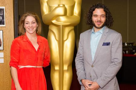 Andrea Nix Fine (right) and Sean Fine. Photo: Darren Decker/AMPAS