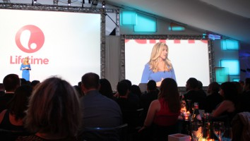 Nancy Dubuc at the 2013/14 A+E Networks Upfront at Lincoln Center in NYC