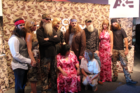 "The cast of ""Duck Dynasty"" at the 2013/14 A+E Networks Upfront in NYC"