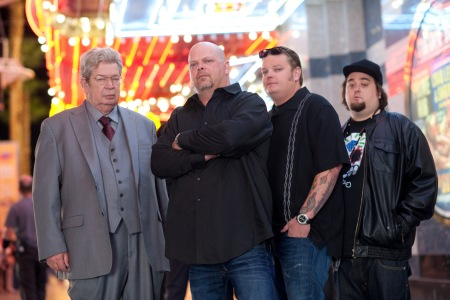 """The cast of """"Pawn Stars"""" shot on March 5, 2012 in Las Vegas, Nevada.  Photo by Scott Gries"""