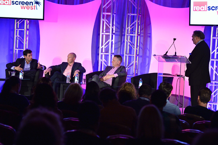 The 'A&E's Big Three' panel session at Realscreen West 2013. Photo: Rahoul Ghose