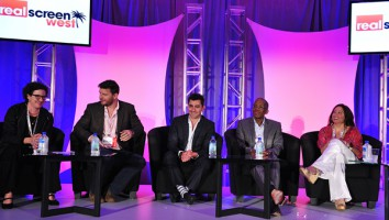 The 'Joining The Food Fight' panel session at Realscreen West 2013. Photo: Rahoul Ghose