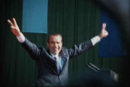 "Richard Nixon in a still from ""Our Nixon"""