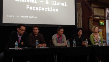 The 'Working with an International Channel - A Global Perspective' panel session at Sheffield Doc/Fest 2013