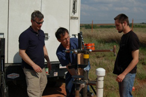 Carl Young (left), Tim Samaras (center) and Paul Samaras (right). Photo: Discovery Channel