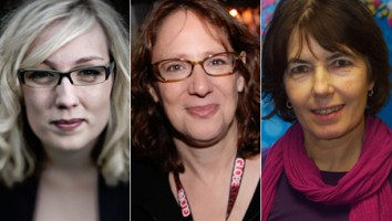 Charlotte Cook (left), Janet Pierson (center) and Kim Longinotto (right)