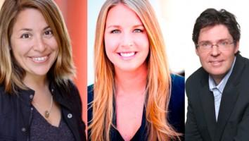(L-R) FishBowl's Beth Greenwald, Kelly Nash, Paul Lapointe