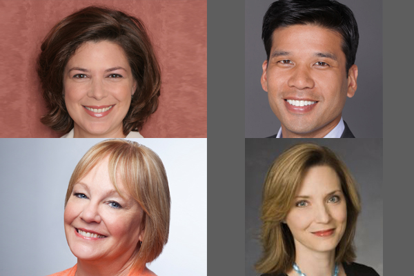 Clockwise from top-left: Elaine Frontain Bryant, Paul Cabana, Gena McCarthy, Mary Donahue.