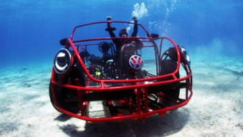 Volkswagen's custom shark cage for Discovery's 'Shark Week'