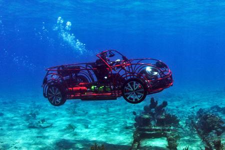 Volkswagen's custom shark cage for Discovery's 'Shark Week'