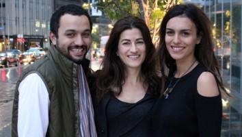 Karim Amer, Jehane Noujaim and Dina Amer in Toronto