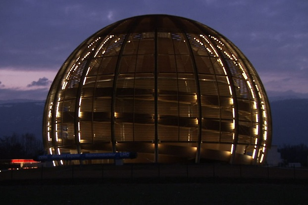 The Globe of Science and Innovation, housed at the European Organization for Nuclear Research, or CERN, in Geneva.