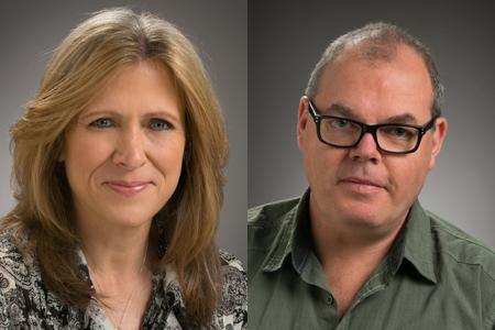 Lisa Behlendorf (left) and Stewart Morris