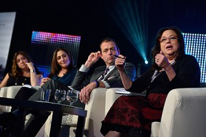 Judges on the 'So You Think You Can Pitch' panel at the 2014 Realscreen Summit. Photo: Rahoul Ghose