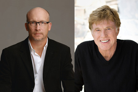 Alex Gibney and Robert Redford