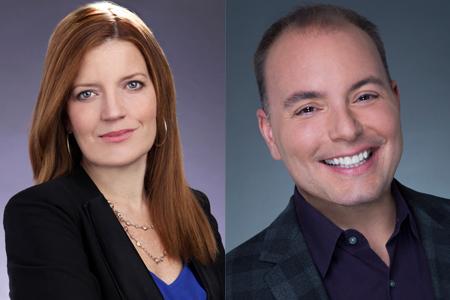 Liz Fine (left) and James Bolosh