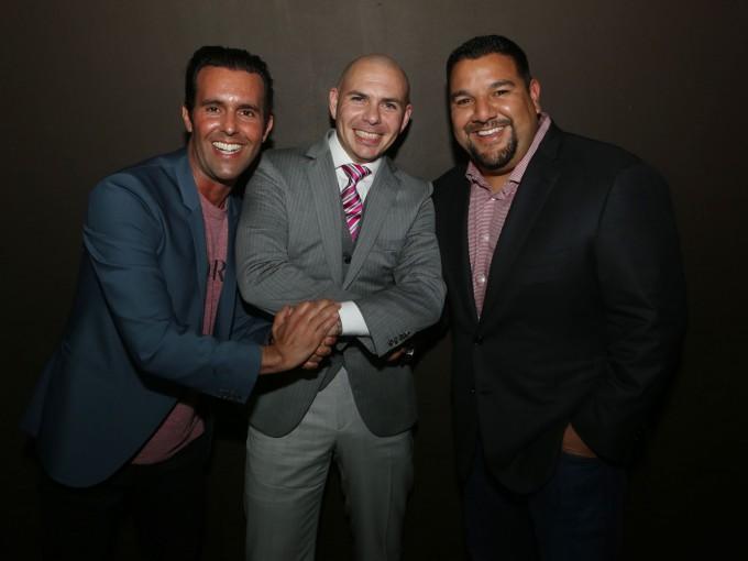 Charlie Corwin, Pitbull, & Cris Abrego