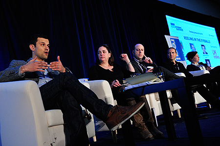 The 'Reeling in the Eyeballs' session at the 2014 Realscreen Summit. Photo: Rahoul Ghose