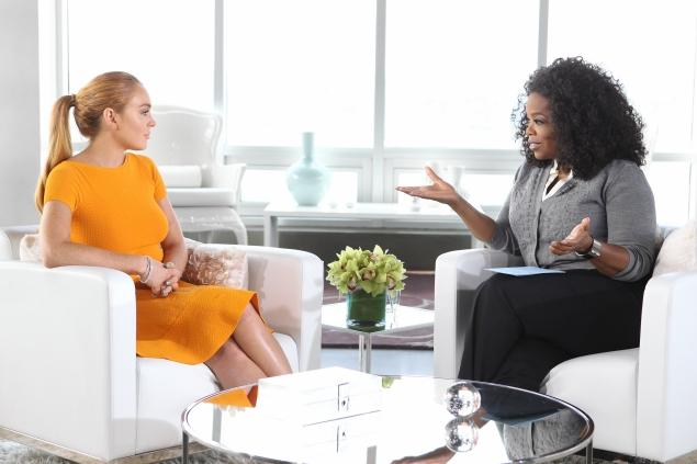 Lindsay Lohan and Oprah Winfrey. Photo: Harpo Productions