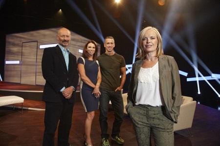 Mariella Frostrup (front) L-R Phillip Hodson, Tracey Cox, Dan Savage