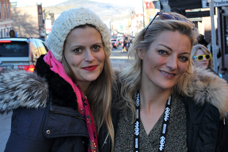 Marianna Palka (left) and Lucy Walker at Sundance 2014. Photograph by Adam Benzine