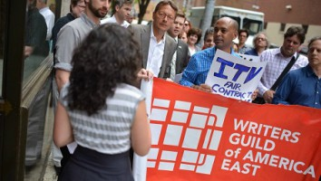 WGAE ITV protest