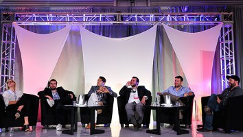 """""""Next Gen Talk Unscripted"""" session at Realscreen West. Photo: Rahoul Ghose"""