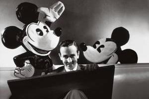 Edward Steichen's photo of Walt Disney, October 1933. Photo: (c) Conde Nast Archive/Corbis