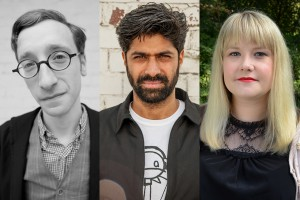 Charlie Phillips (left), Hussain Currimbhoy (center) and Melanie Iredale (right)
