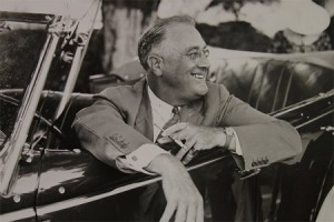 "FDR as shown in ""The Roosevelts"""