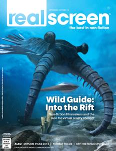 Realscreen magazine September/October 2014 issue