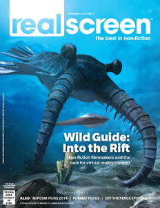 Realscreen magazine September/October 2014 issue