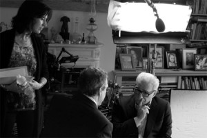 tedeschi and scorsese in conversation during the filming of the 50 year argument