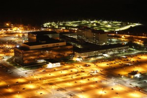 "The NSA headquarters in Maryland, as shown in ""Citizenfour"" (Photo: Trevor Paglen)"