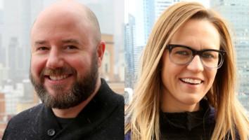 Joe Weinstock (left) and Brenna Eckerson
