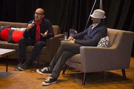 Navid Khonsari (left) and POV Digital's Adnaan Waseyon at Hot Docs.