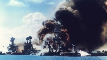 Explosions Along Battleship Row In Pearl Harbor