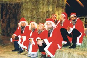 Santas in the Barn