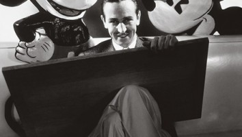Walt Disney with Mickey Mouse