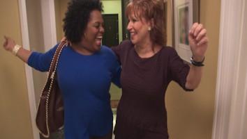 Joy Behar and Sherri Shepherd in Joy's Apartment LATE NIGHT JOY