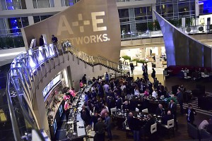 The scene at the lobby bar during Realscreen Summit 2016.