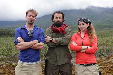 Trailblazers Jeff, Shaun, Jess in Ecuador
